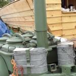 Wojskowa kuchnia polowa na Polskim stoisku w trakcie Featiwalu Loary w Orleanie
