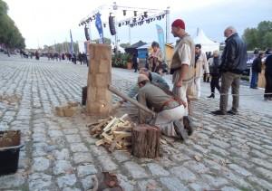 Piec dymarski na Polskim stoisku w trakcie Festiwalu Loary w Orleanie