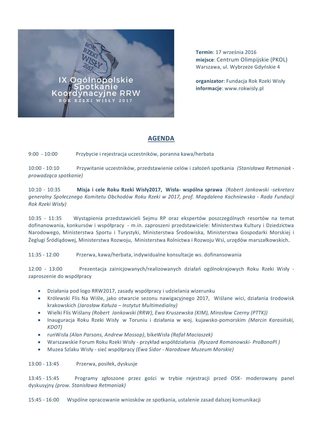 OSK agenda